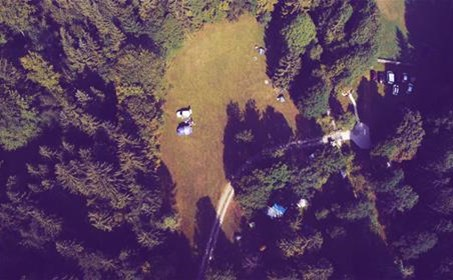Natura Eco Camp - helicopter shot