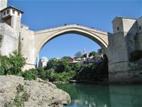 Old Bridge in Mostar 10.km from campsite.