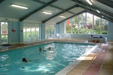Indoor heated swimming pool, hot tub and infrared therapy sauna
