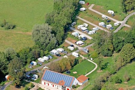 Panoramablick auf Camping Schwabenmühle