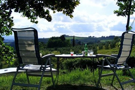 The  Camping Panorama del Chianti is a haven of peace nestling in the green tuscan hills