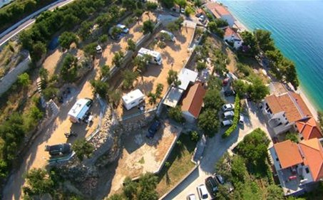 A bird's-eye view of the campsite