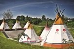 Tipi tents in indian village
