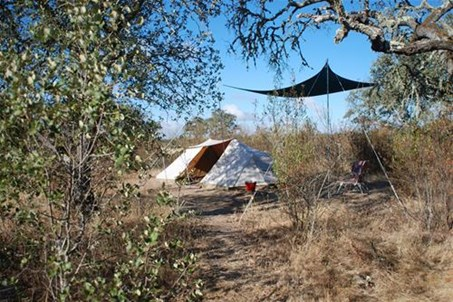 fully equipped traditional tent for rent
