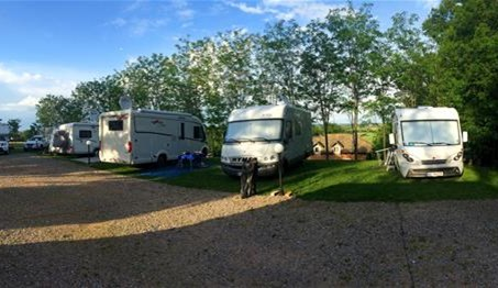 Camping site - Uper area - overview Comfortable camping pitches equipped by power outlet and water supply;