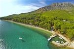 Camp Dole - www.campdole.com - Aerial view of the campsite and our amazing pebble beach and crystal clear Adriatic sea.