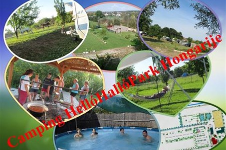 Camping collage HelloHalloPark Hongarije