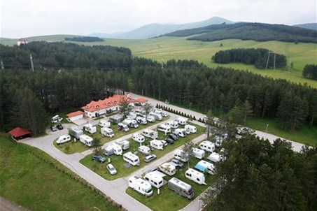 Areal view of the Camping Zlatibor