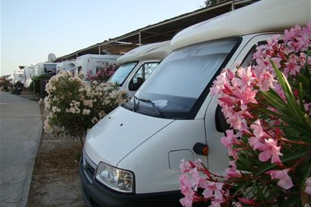 Caravan ground, 150m from the beach.