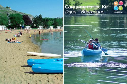 Camping Du Lac Kir Dijon Plage De Sable Et Activités Nautiques, Canoës