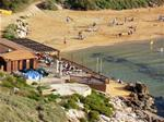 Ghajn Tuffieha beach and bar cafe - this is the next bay from Golden Sands - easy walking distance