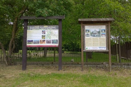 Information signs at teh entrance