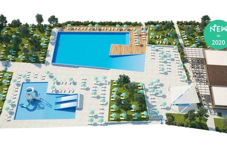 Camping Park Umag - New 2020 -Swimming pool complex with restaurant and sunbathing area - one of the largest in Istria campsites!