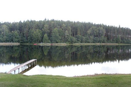 Aisetas camp Aisetėlė beach near lake Aisetas